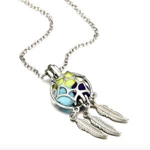 Jewelry - Boho Dreamcatcher Floating Locket Pendant Necklace